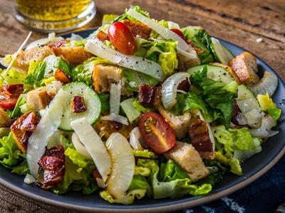 Roasted Onion Bacon & Tomato Salad Recipe