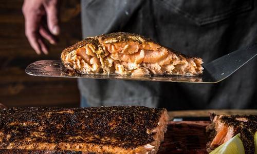 Grilled Blackened Saskatchewan Salmon