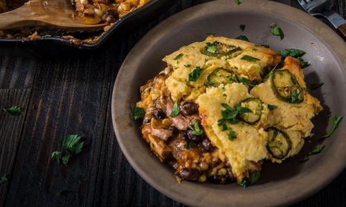 Baked Cornbread Turkey Tamale Pie