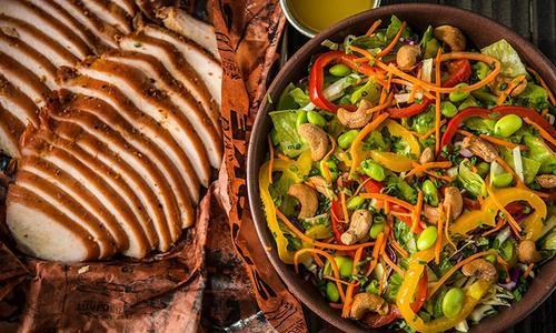 Grilled Wild Turkey Orange Cashew Salad by John Dudley