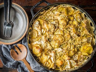 Baked Potatoes & Celery Root Au Gratin Recipe