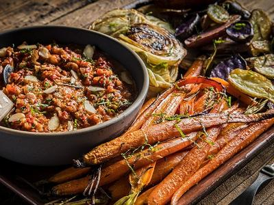 Grilled Baby Carrots And Fennel With Romesco Recipe