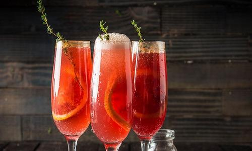 Grilled Blood Orange Mimosa