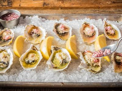 Grilled Oysters with Mignonette Recipe