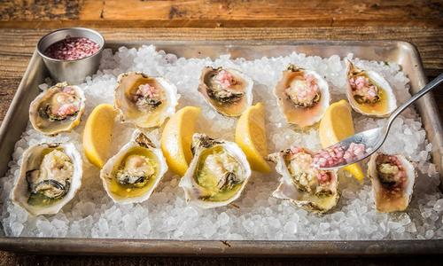 Grilled Oysters with Mignonette