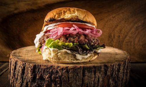Grilled Lamb Burgers With Pickled Onions