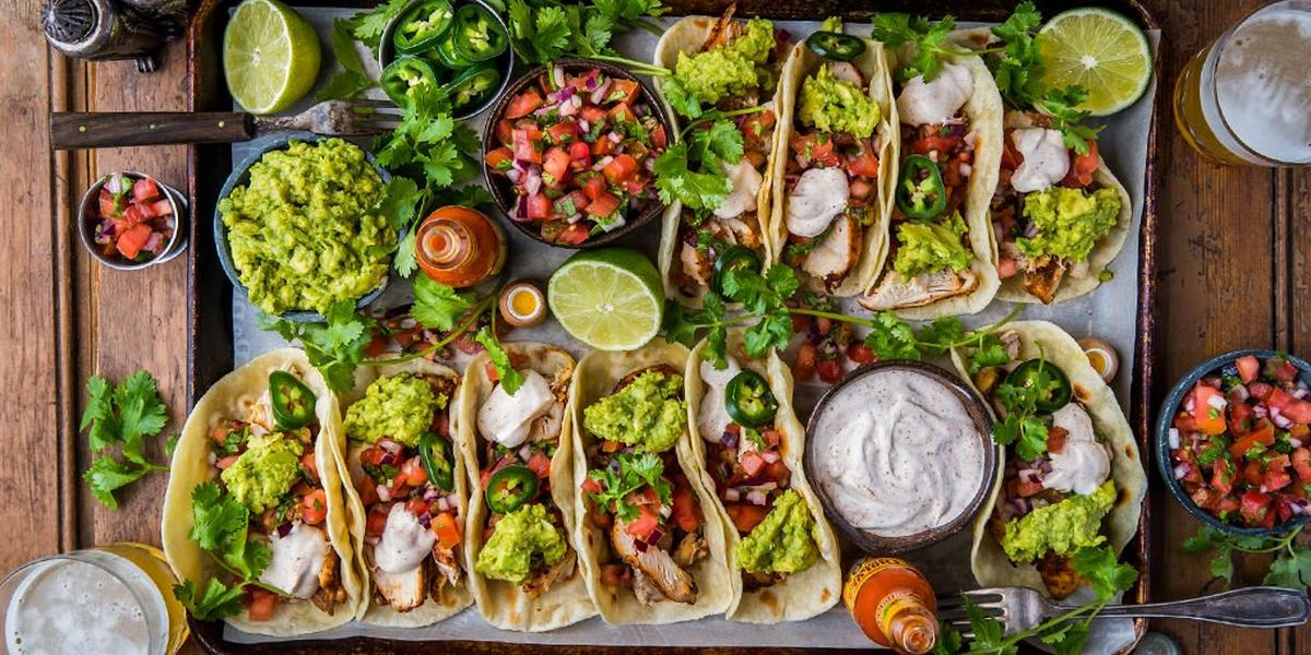 Loaded Grilled Chicken Tacos By Dennis The Prescott Recipe Traeger Grills