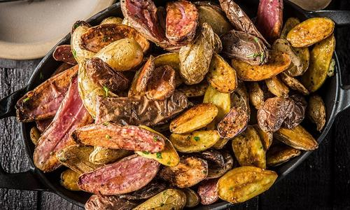 Roasted New Potatoes with Compound Butter