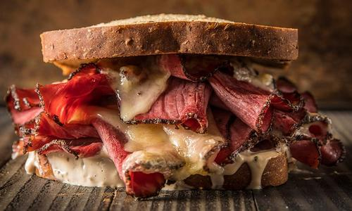 Traeger Smoked Pastrami Sandwich
