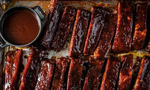 BBQ St Louis Style Ribs with Homemade BBQ Sauce