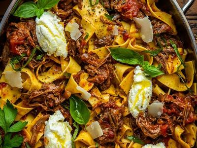 Braised Beef Pappardelle by Dennis the Prescott Recipe