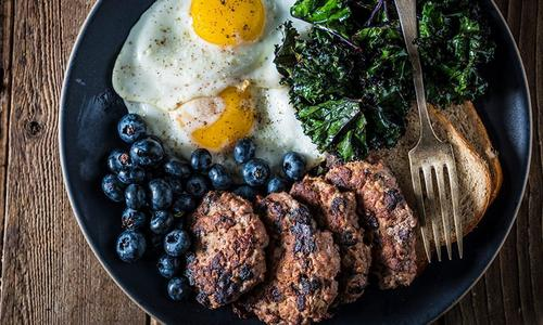 Grilled Blueberry Breakfast Sausage