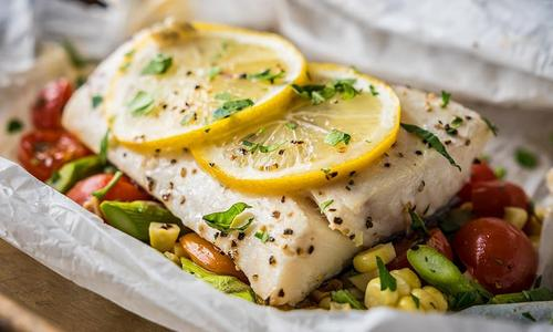 Roasted Halibut in Parchment