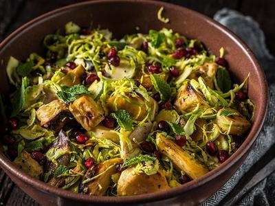 Smoked Shredded Brussels Sprout Salad Recipe