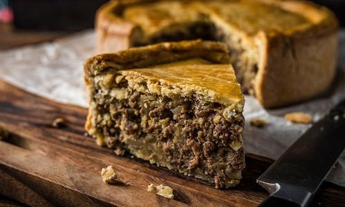 Baked Elk Meat Pie