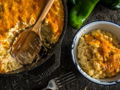 Baked Green Chile Mac & Cheese by Doug Scheiding Recipe