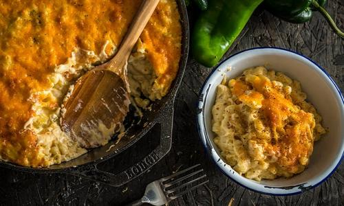 Baked Green Chile Mac & Cheese by Doug Scheiding