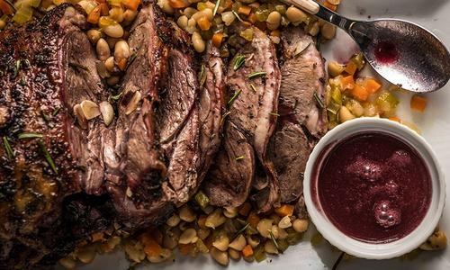 Roasted Leg Of Lamb With Red Wine Reduction By Amanda Haas
