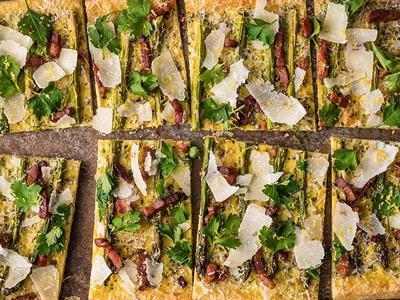 Baked Asparagus Pancetta Cheese Tart Recipe