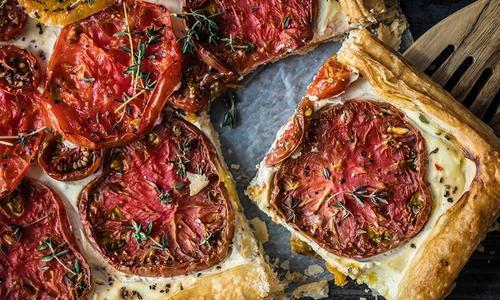 Baked Heirloom Tomato Tart