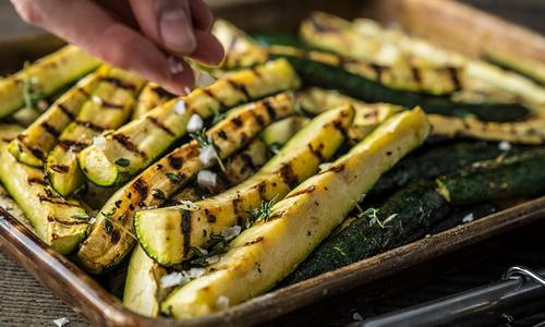 Grilled Zucchini Squash Spears