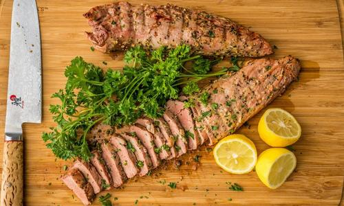 Grilled Lemon Pepper Pork Tenderloin