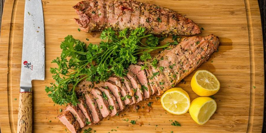 image of Grilled Lemon Pepper Pork Tenderloin