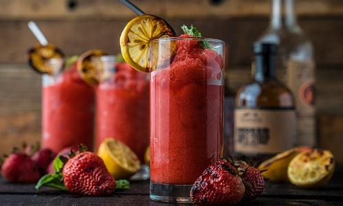 Grilled Frozen Strawberry Lemonade