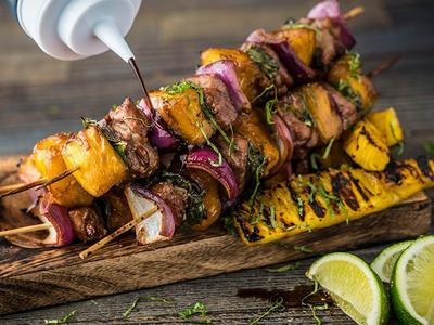 Grilled Pineapple And Pork Skewers Recipe