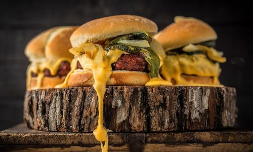 Roasted Hatch Chile Burger with Smoked Cheese Sauce