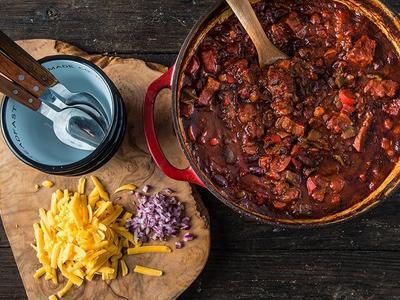 Braised 5 Alarm Chili Recipe