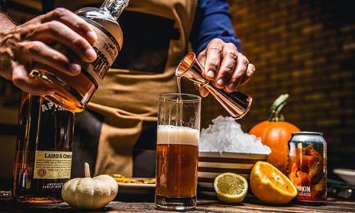 Grilled Applejack O'Lantern Cocktail