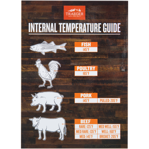 Traeger Internal Temperature Guide Grill Magnet