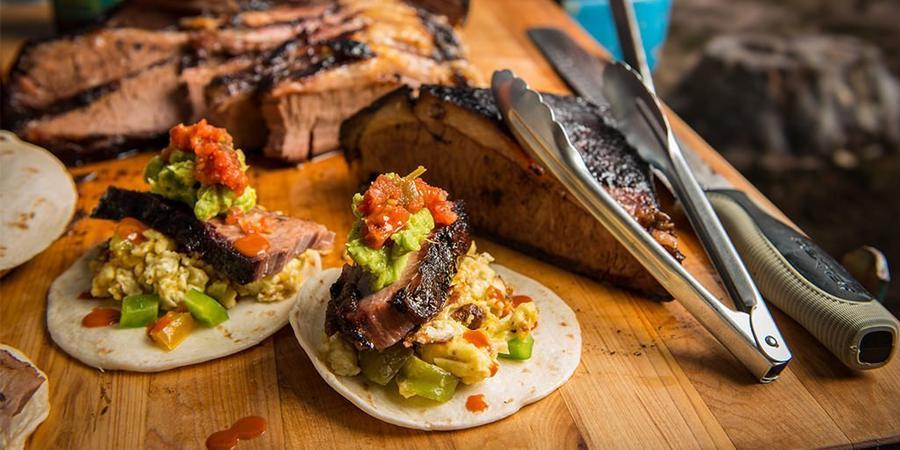 image of BBQ Brisket Breakfast Tacos