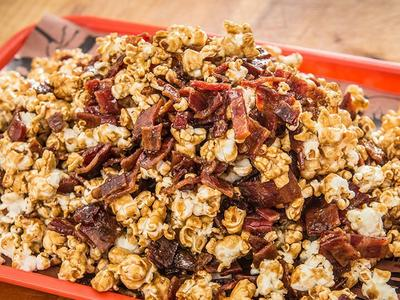 Baked Bacon Caramel Popcorn Recipe
