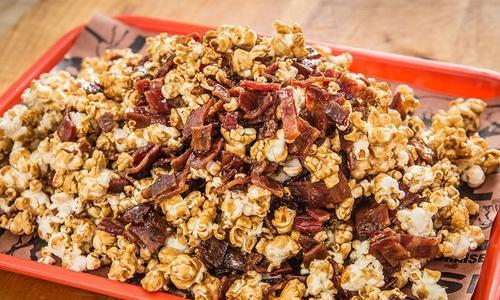 Baked Bacon Caramel Popcorn