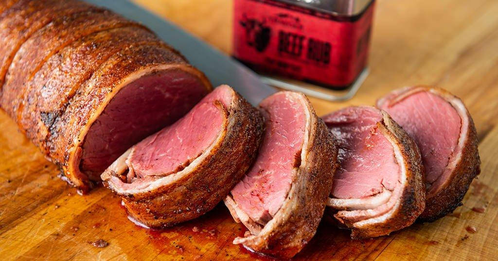 Roasted Bacon Wrapped Beef Tenderloin Recipe Traeger Grills