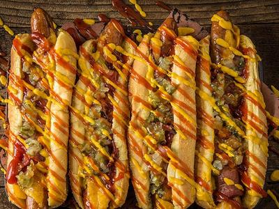 Grilled Bacon-Wrapped Hot Dogs Recipe