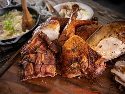 Bacon-wrapped Spatchcocked Turkey Recipe