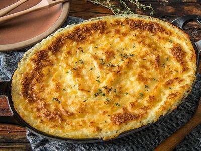 Baked Garlic Duchess Potatoes
