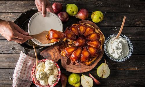 Baked Pear Tarte Tatin