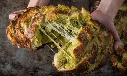 The Dan Patrick Show pull-apart Pesto Bread