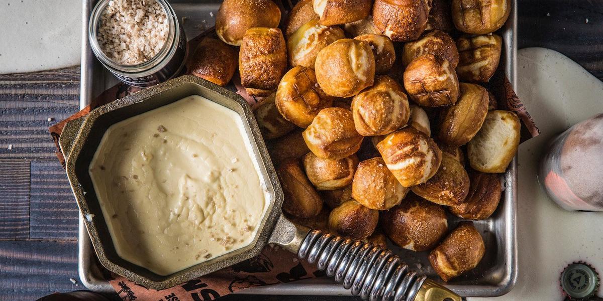 Baked Pretzel Bites & Beer Cheese Dip Recipe | Traeger Pellet Grills
