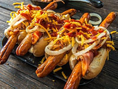 Grilled Traeger Ball Park Dog