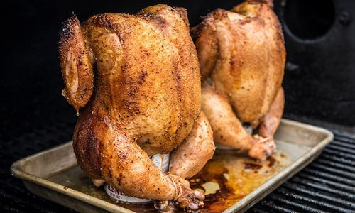 Roasted Beer Can Chicken Recipe Traeger Grills