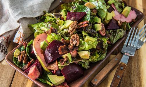 Roasted Beet & Bacon Salad