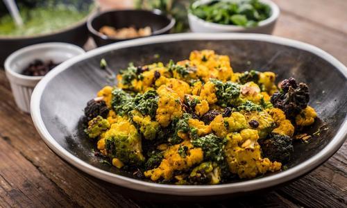 Blistered Curry Cauliflower