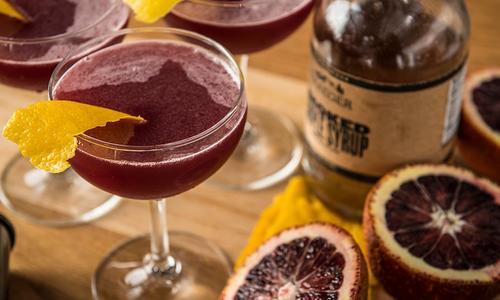Blood Orange And Sandeman Cocktail