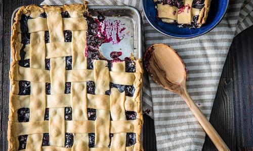 Baked Blueberry Slab Pie