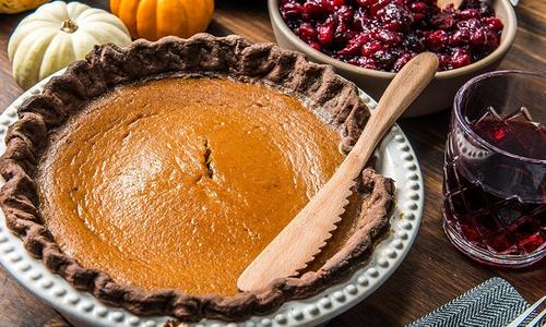 Baked Bourbon Maple Pumpkin Pie